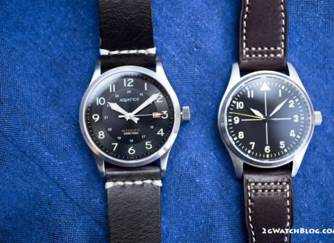 San Martin Pilot vs Aquatico Blue Angels – comparison of 2 budget pilot watches